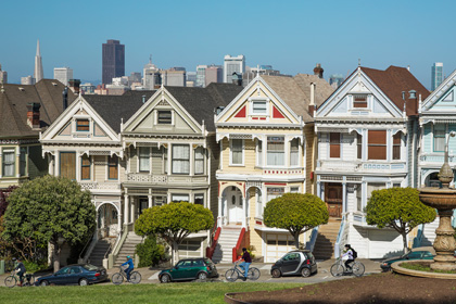 Alamo Square's Postcard Row, San Francisco