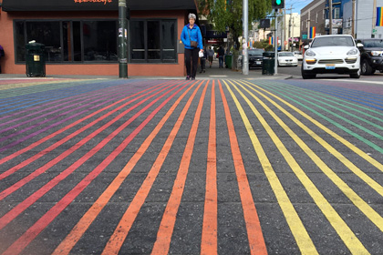 Castro rainbow crosswalk, San Francisco