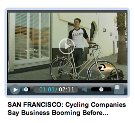 Daniel interviewed by KTVU about small businesses and bike to work day
